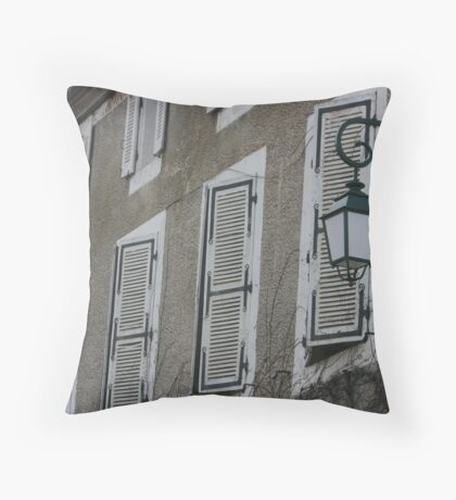 Shutters all in a row Throw Pillow
