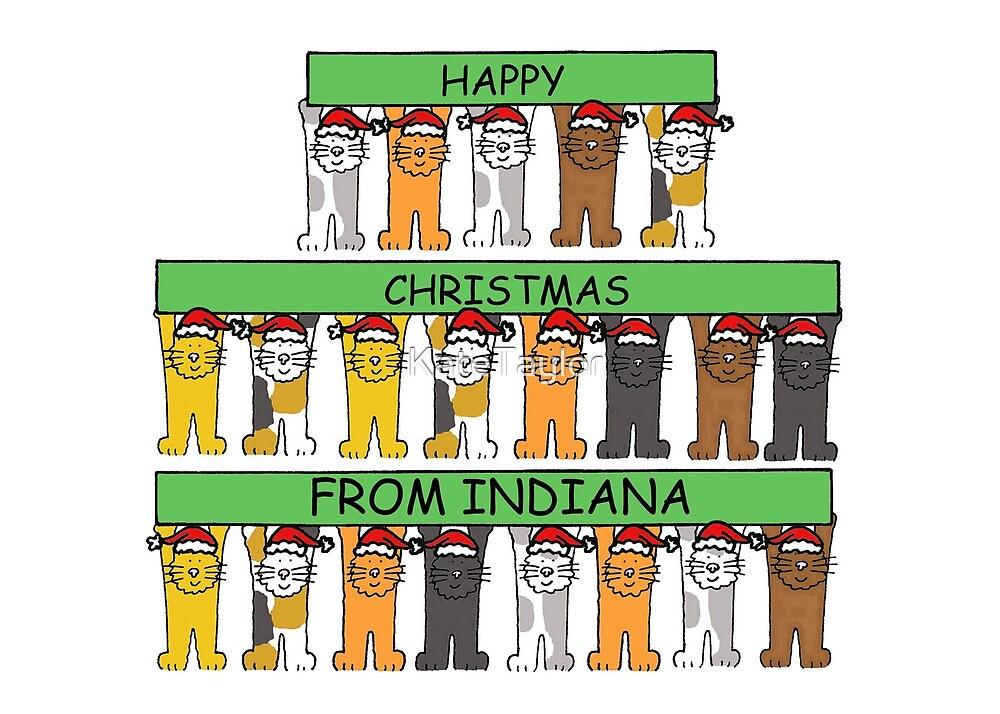 Indiana Happy Christmas Cats. by KateTaylor