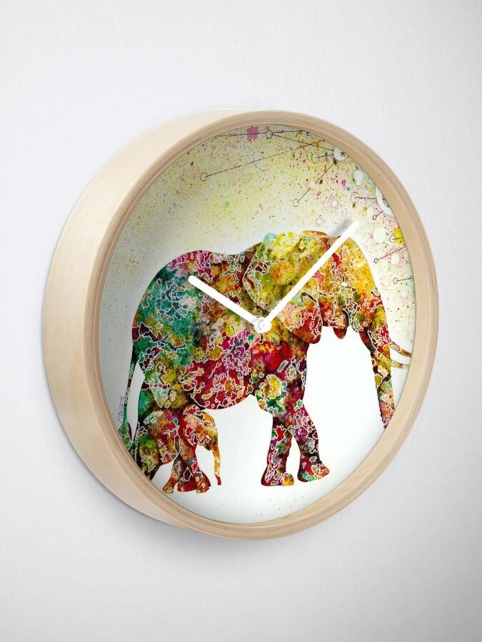 """Alternative Ansicht von """"Forever Young"""" Elephant Mutter und Baby Uhr"""