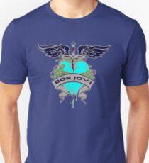 Bon Jovi Blue Heart and Dagger Unisex T-shirt