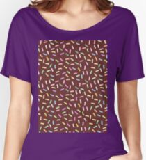 pattern, chocolate Glaze with sprinkles Women's Relaxed Fit T-Shirt