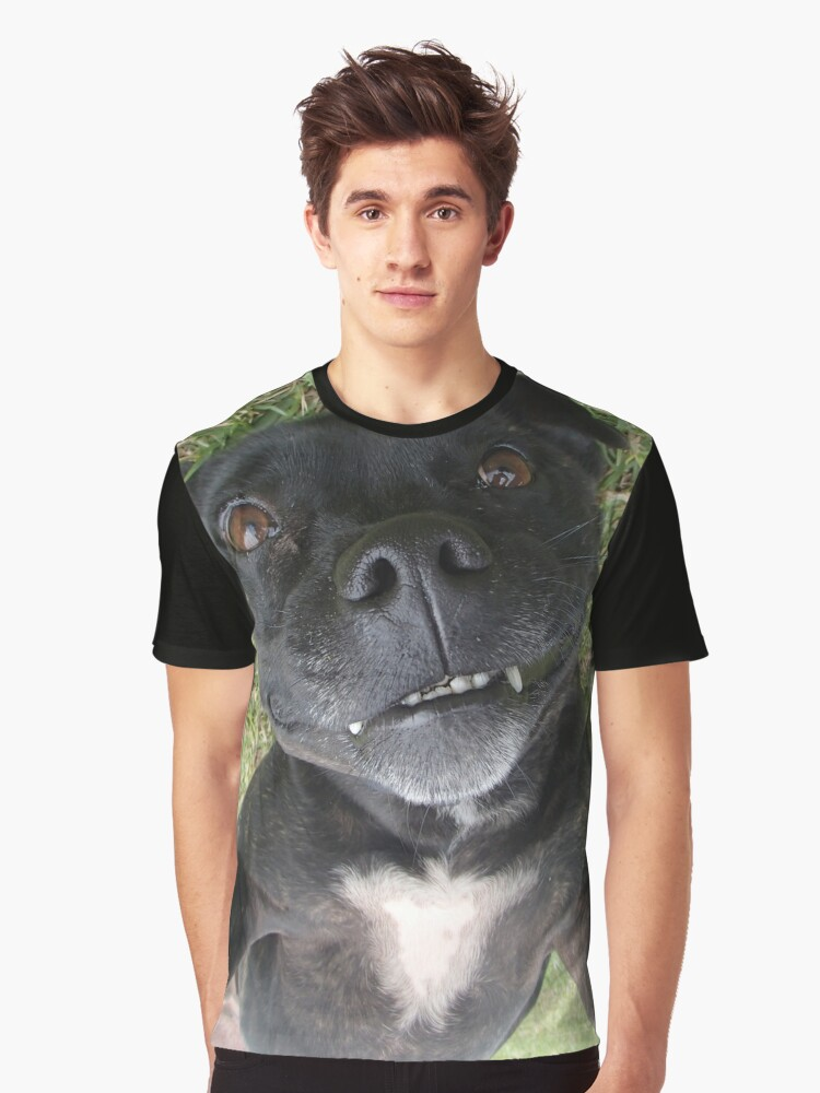 Staffy X - Adopted Graphic T-Shirt Front