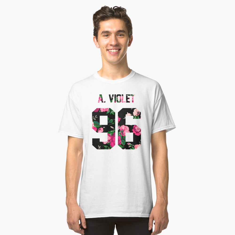 Alissa Violet - Colorful Flowers Classic T-Shirt Front