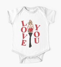 I Love You Girl One Piece - Short Sleeve