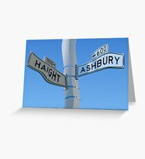 Haight Ashbury Warp Greeting Card