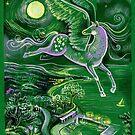 Magic flying moonlight horse by elinakious