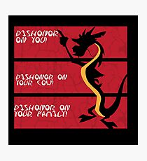 Dishonor on your cow! Photographic Print