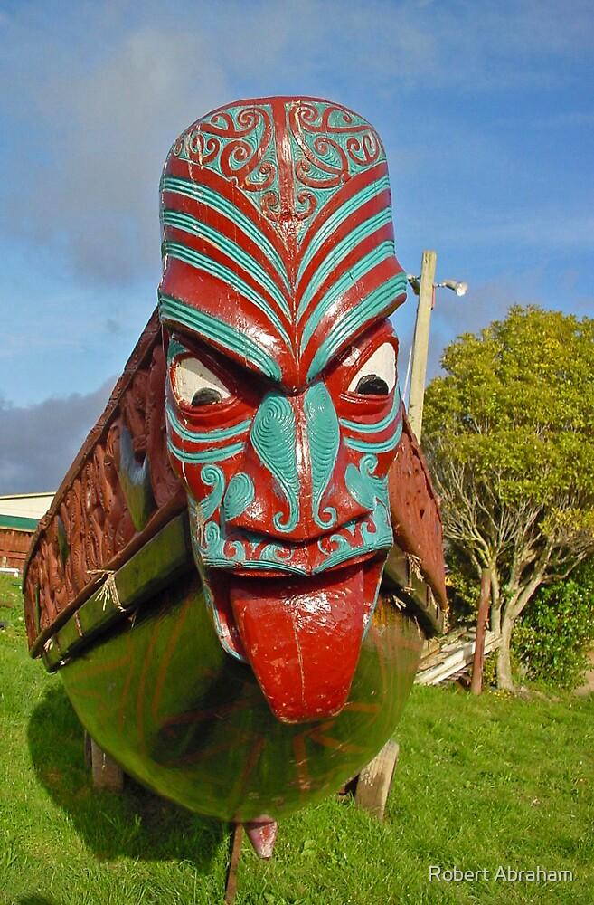 Maori Waka & Taniwha by Robert Abraham