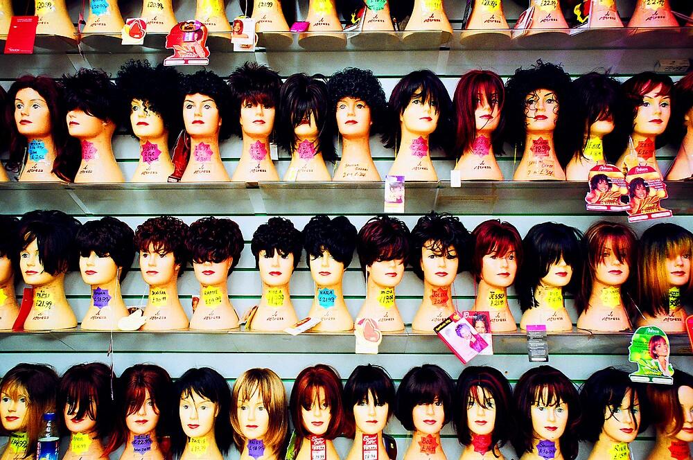 MANNEQUIN HEADS  by Ingrid Rasmussen