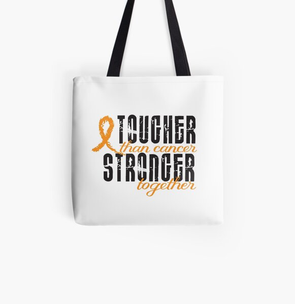 Tougher than cancer. Stronger together. All Over Print Tote Bag