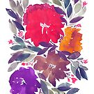 hand painted flowers by aticnomar
