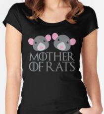 mother of rats Women's Fitted Scoop T-Shirt