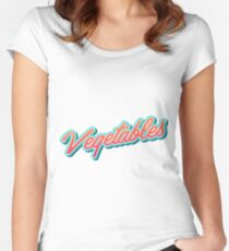 Vegetables Typography Women's Fitted Scoop T-Shirt