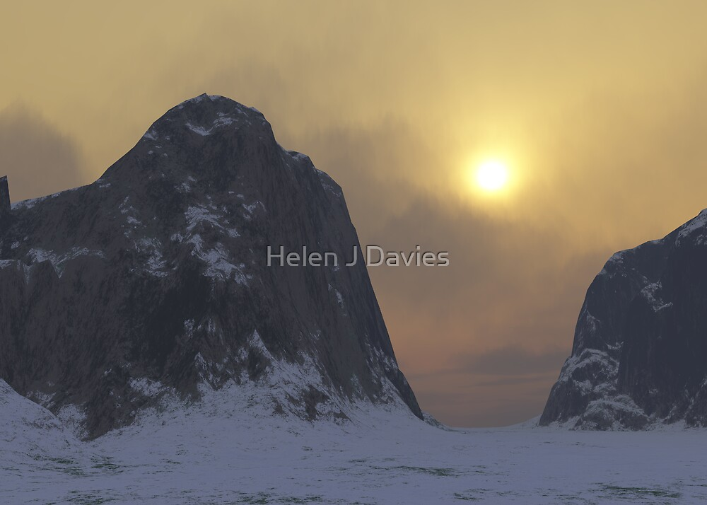Winter Mountains by Helen J Davies