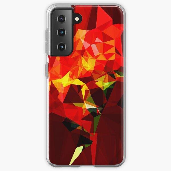red polygone object Samsung Galaxy Soft Case