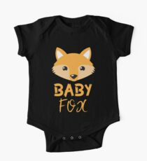 BABY Fox mit Mama Fuchs und Papa-Box Kurzärmeliger Einteiler
