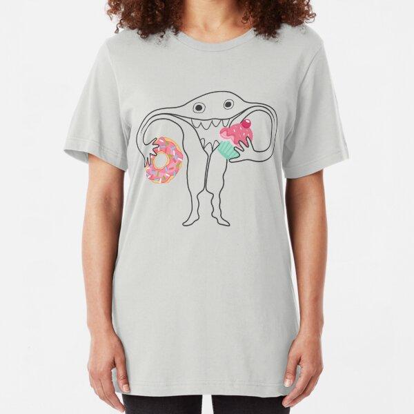 Hungry Uterus Understated Ute Slim Fit T-Shirt