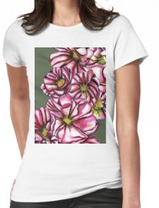 Almond tree flowers Womens Fitted T-Shirt