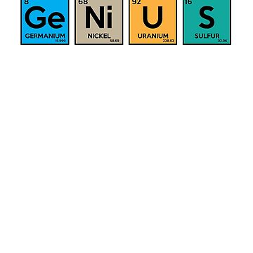 Genius Funny Periodic Table Science Joke  by ckandrus