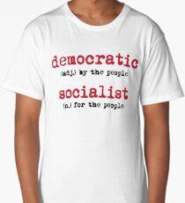 Democratic Socialist Definition Social Activist  Long T-Shirt