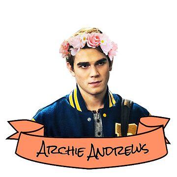 archie flower crown sticker by lunalovebad