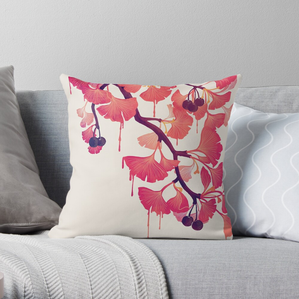 O Ginkgo Throw Pillow