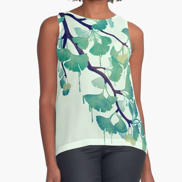 O Ginkgo (in Green) Sleeveless Top