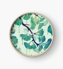 O Ginkgo (in Green) Clock