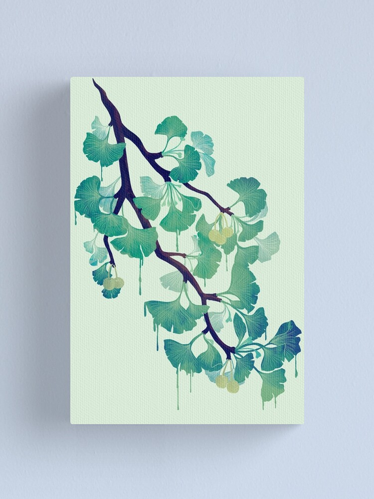 Alternate view of O Ginkgo (in Green) Canvas Print