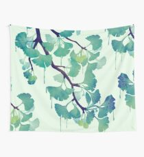 O Ginkgo (in Green) Wall Tapestry