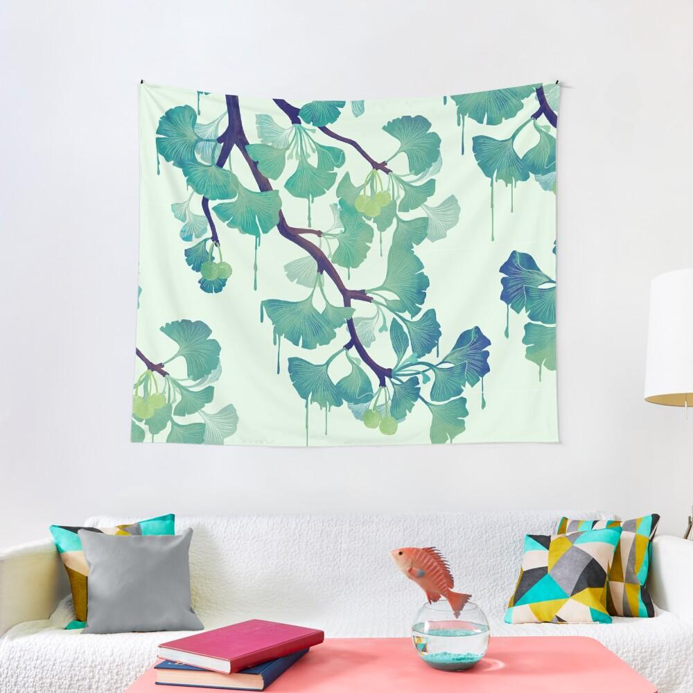 O Ginkgo (in Green) Tapestry