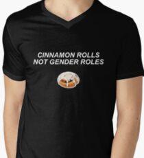 Cinnamon Rolls Not Gender Roles - Dark V-Neck T-Shirt
