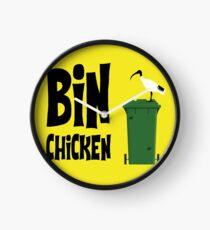 Yellow Bin Chicken Clock