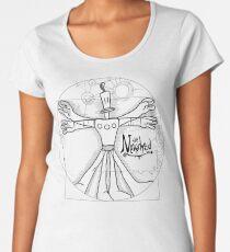 the Vitruvian Klaymen Women's Premium T-Shirt