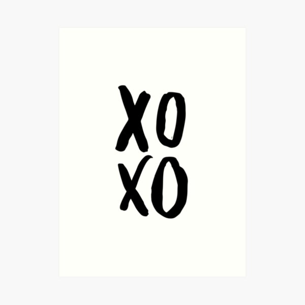 XOXO Poster, Modern Wall Art, Brush Script Art Print