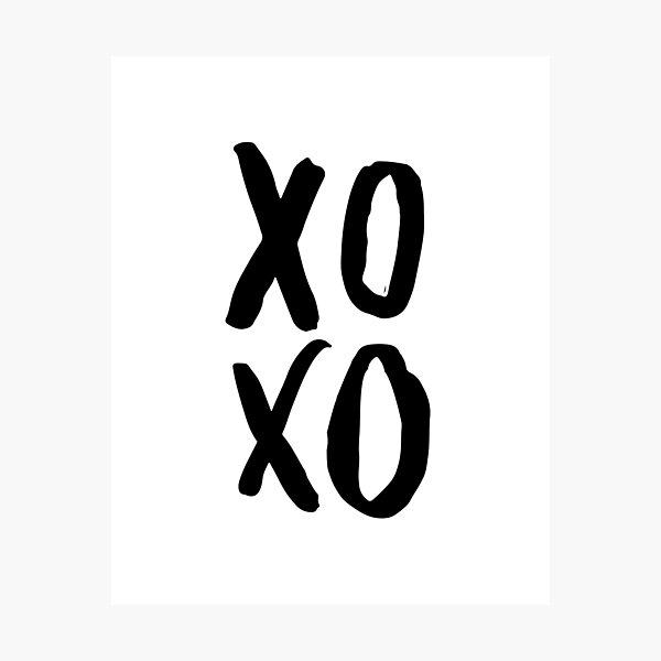 XOXO Poster, Modern Wall Art, Brush Script Photographic Print