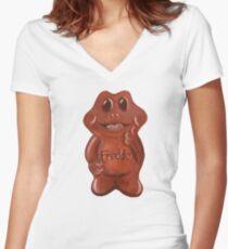 Freddo Frog Women's Fitted V-Neck T-Shirt