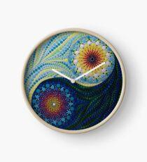 Yin Yang Dot Mandala Clock