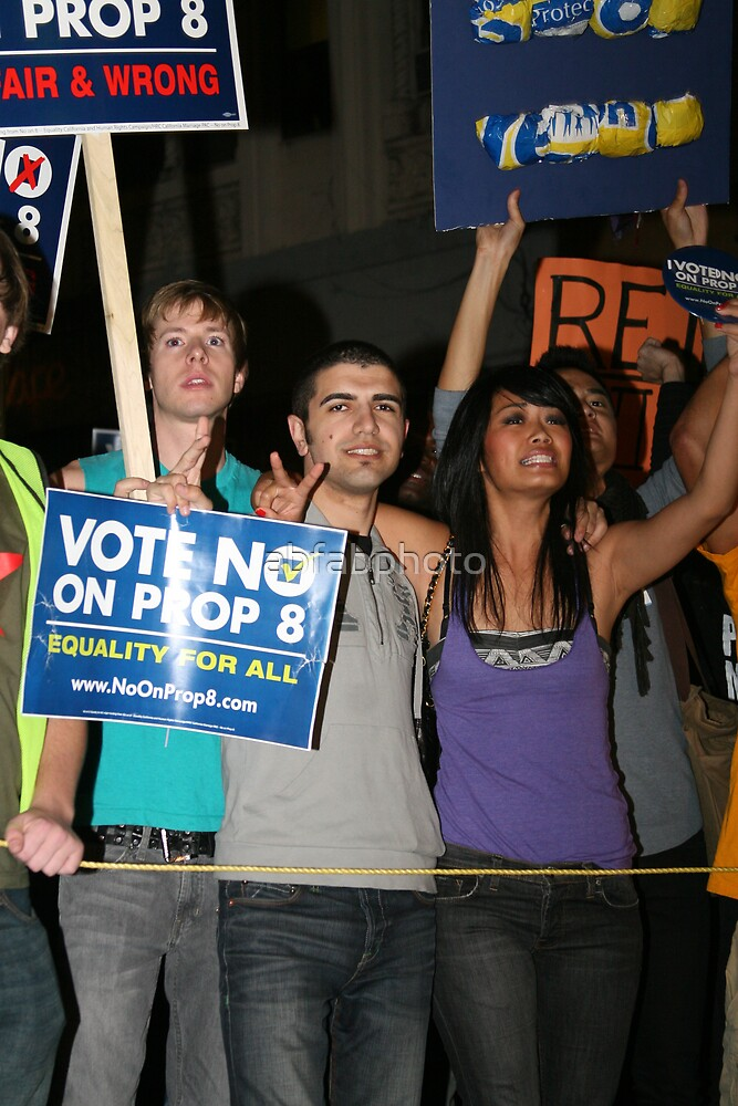 No On Prop 8  - Peace by abfabphoto