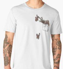Pocket Sloth Family Men's Premium T-Shirt