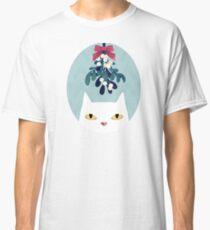 Mistletoe? (White Cat) Classic T-Shirt