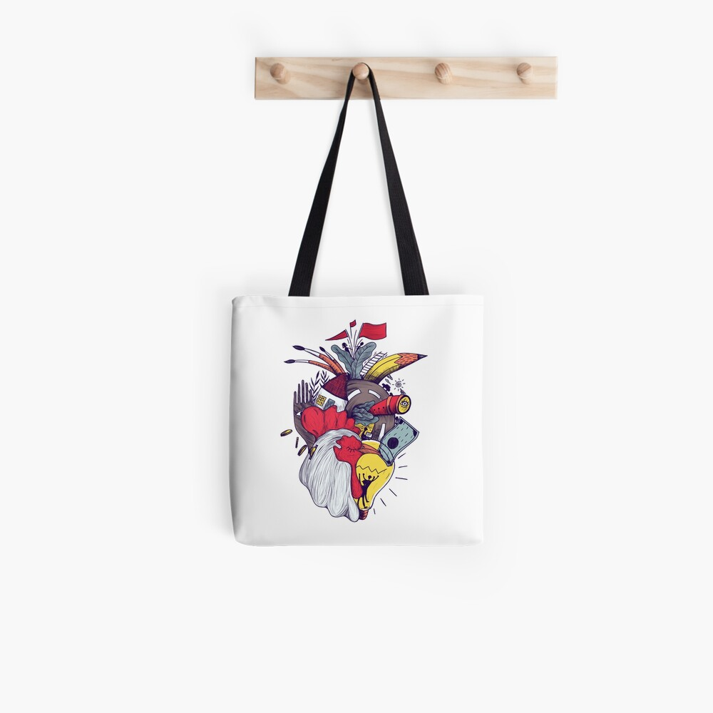 Creative Heart Tote Bag