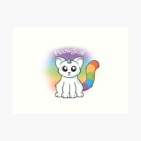 Meowgical Unicorn Cat Art Print