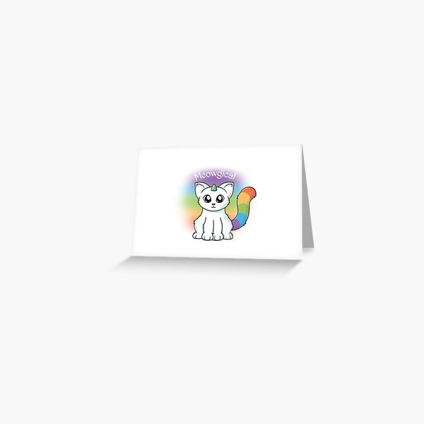 Meowgical Unicorn Cat Greeting Card