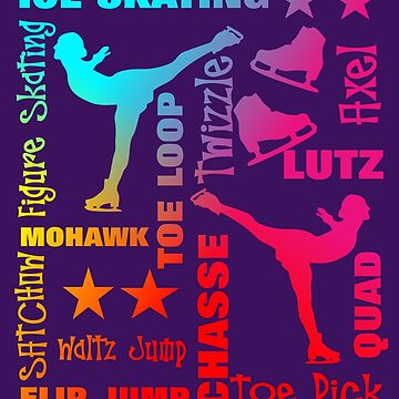 Colorful Ice Skating Theme Terminology Typography by Artification