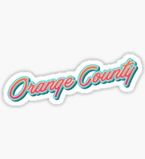 Orange County USA Typography Sticker