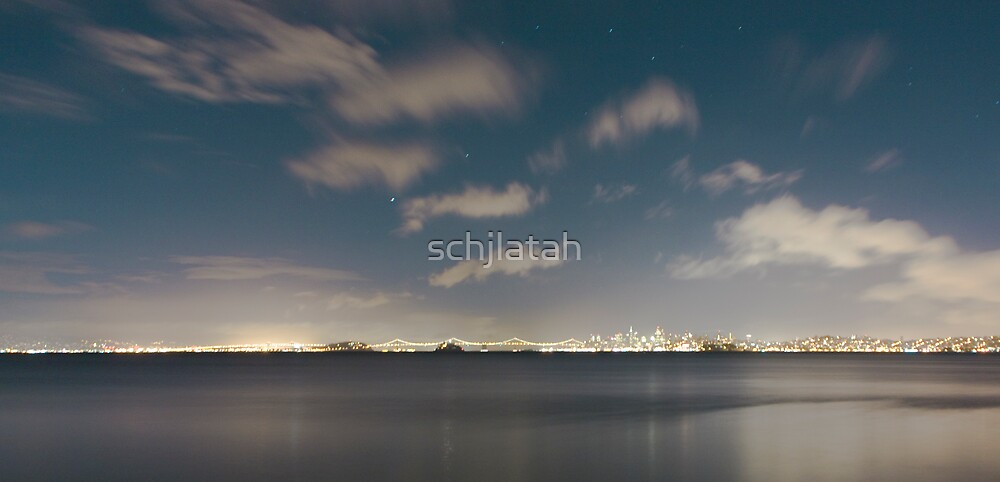 SF Bay at night by schjlatah