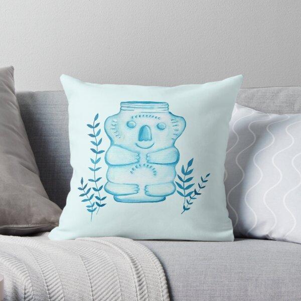 Koala Jar Throw Pillow