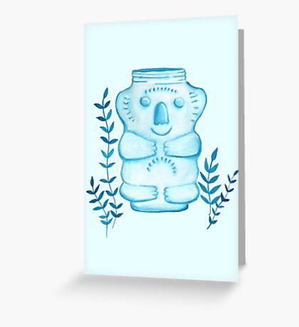 Koala Jar Greeting Card