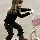 Kaylie Crusin on Her Scooter by abfabphoto